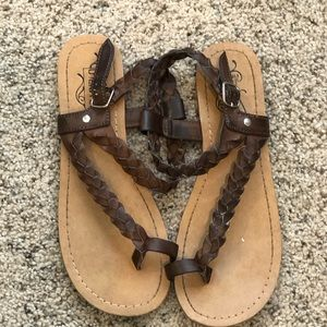 Unlisted Brown Braided Sandals